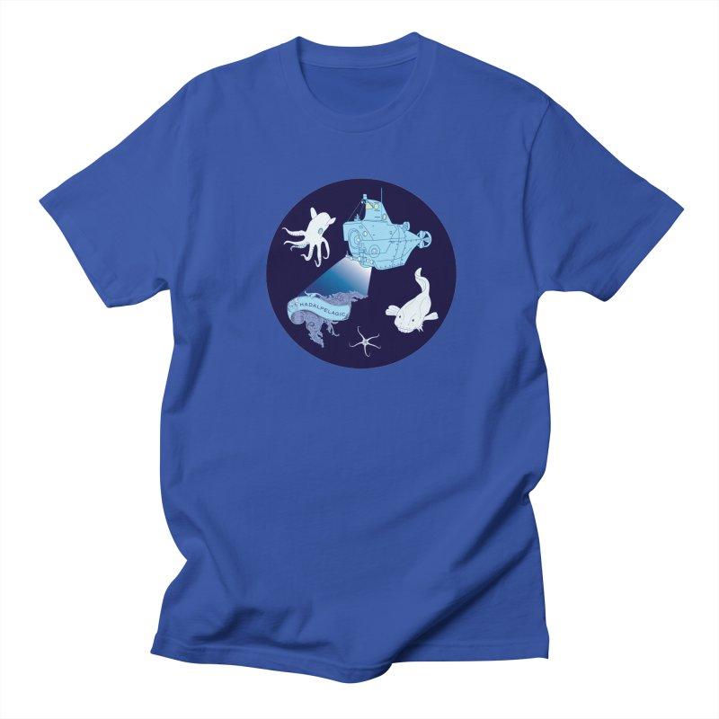 Ocean Zones in Men's Regular T-Shirt Royal Blue by Posh Tide