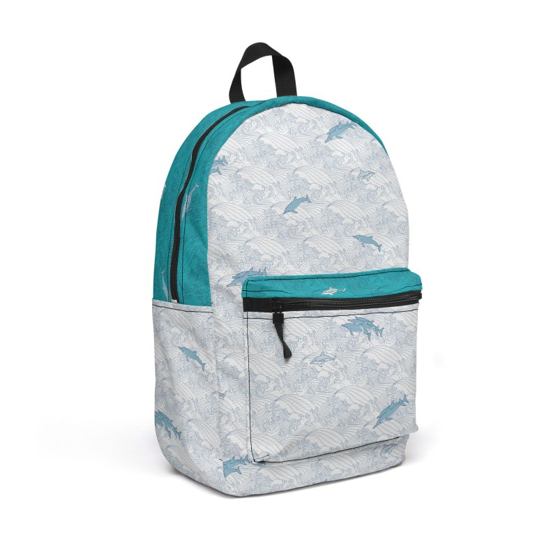 Dolphin on Waves in Backpack by Posh Tide