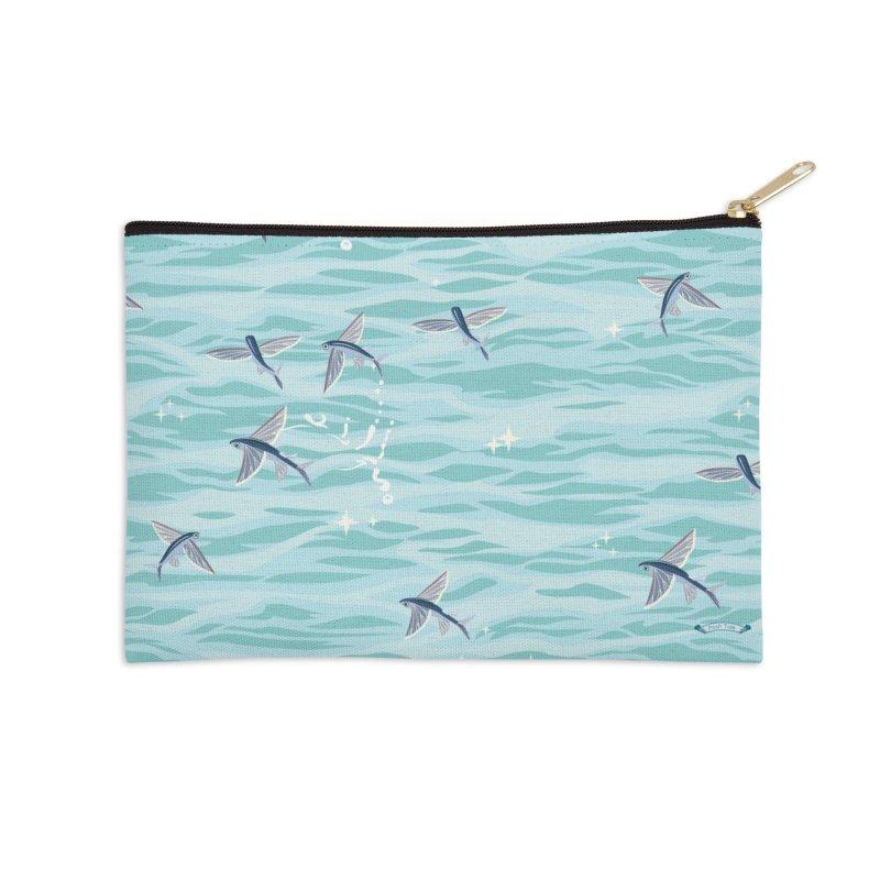 Flying Fish in Zip Pouch by Posh Tide