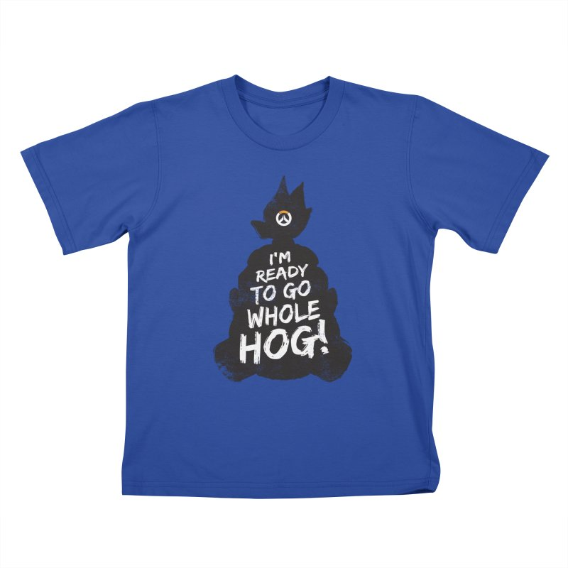 I'm ready to go whole hog! Kids T-Shirt by Positivitees