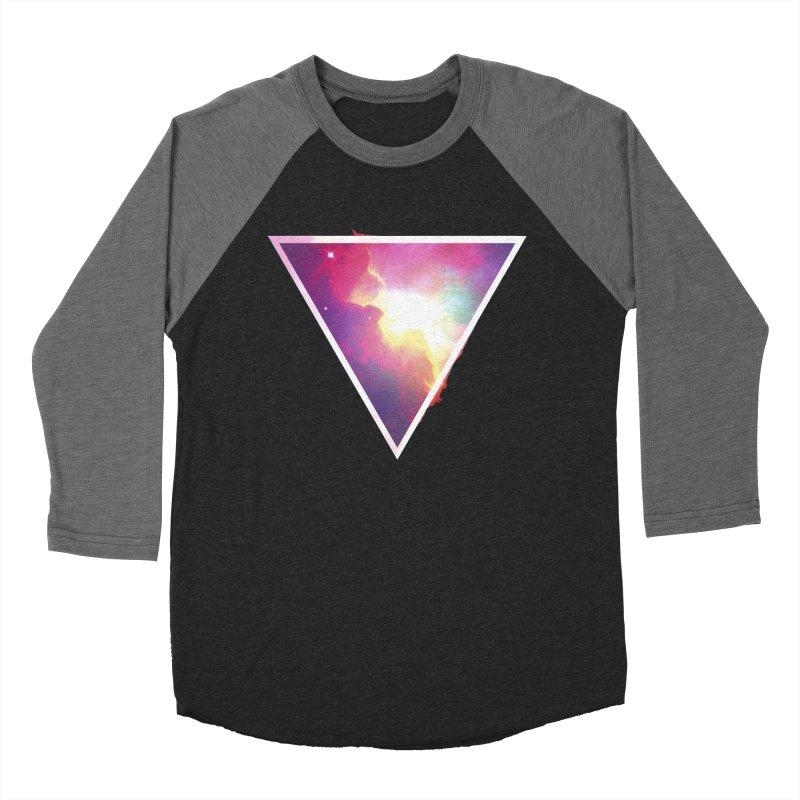Nebula Triangle Women's Baseball Triblend T-Shirt by Postlopez