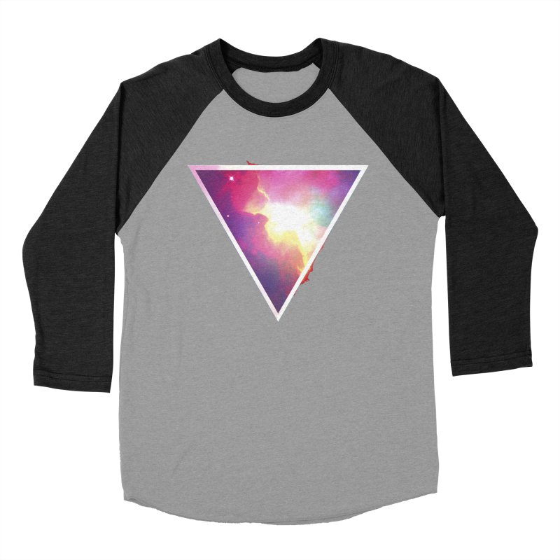 Nebula Triangle Men's Baseball Triblend T-Shirt by Postlopez
