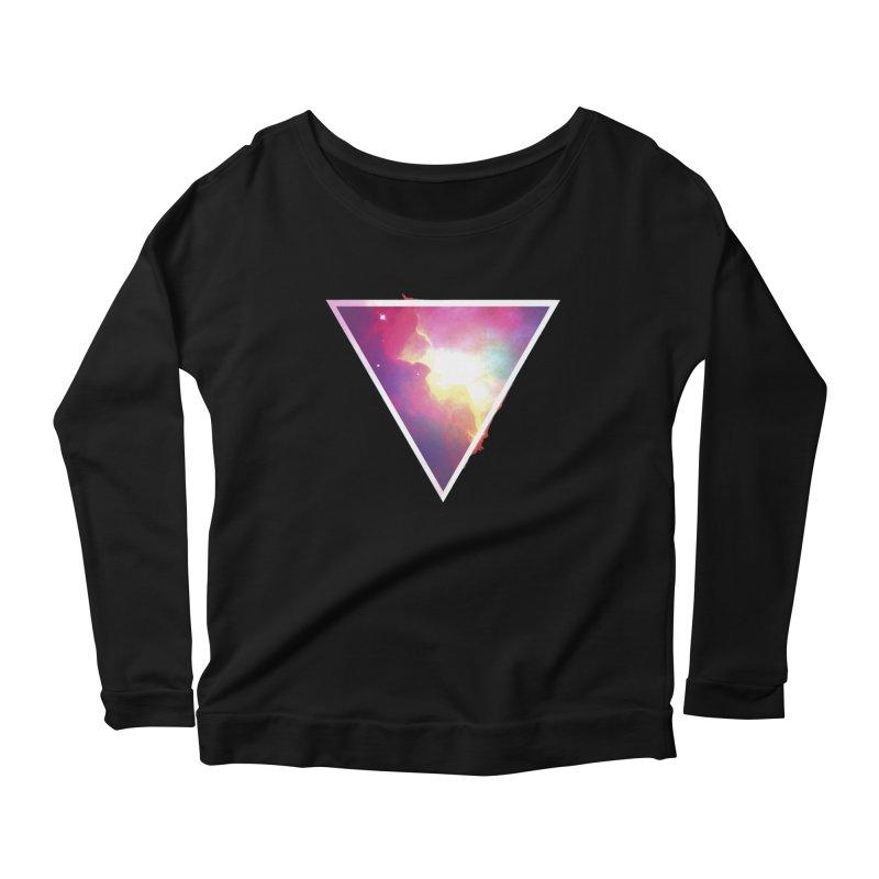 Nebula Triangle Women's Longsleeve Scoopneck  by Postlopez