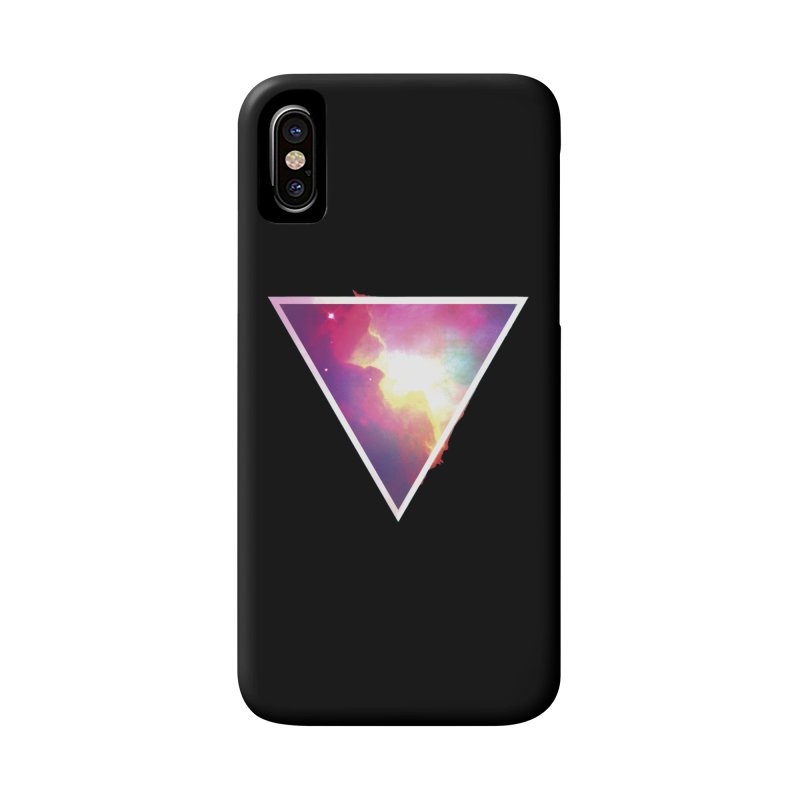 Nebula Triangle Accessories Phone Case by Postlopez