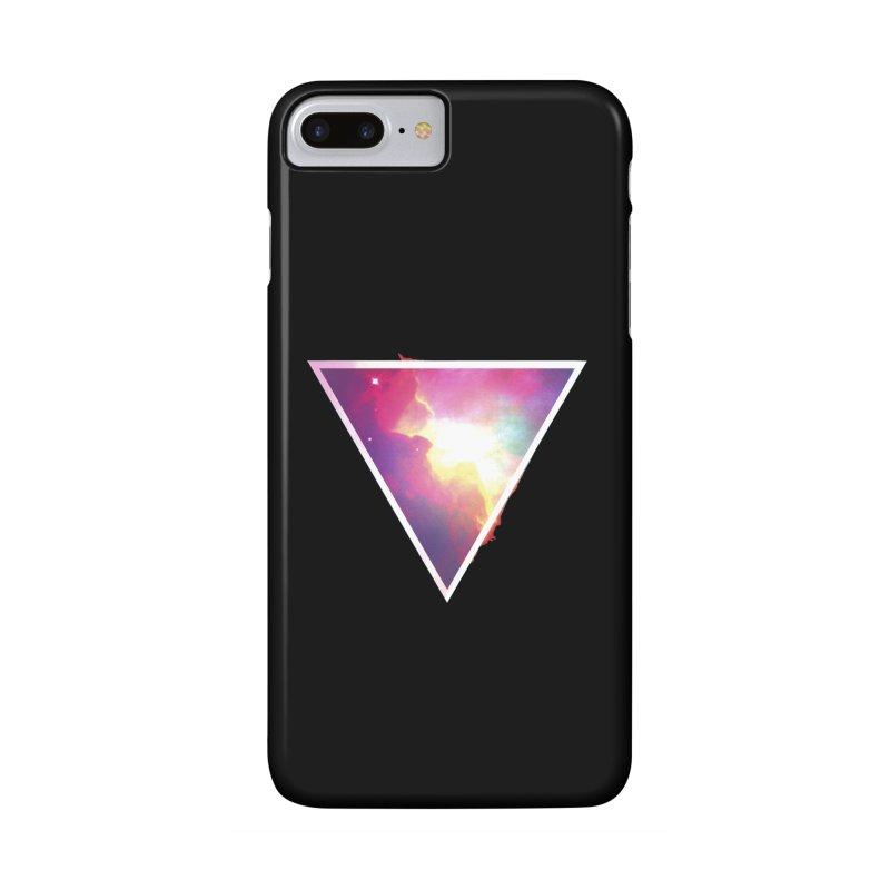 Nebula Triangle Accessories Phone Case by Postlopez