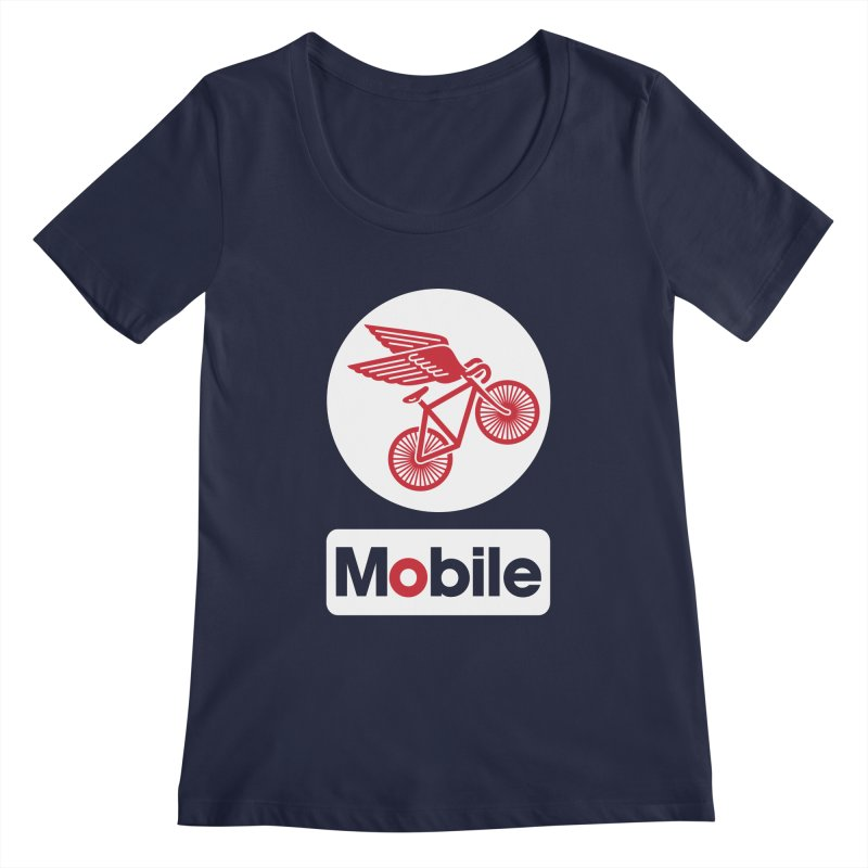 Mobile Women's Scoopneck by Postlopez