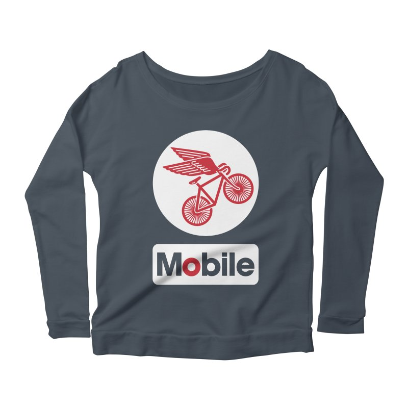 Mobile Women's Longsleeve Scoopneck  by Postlopez