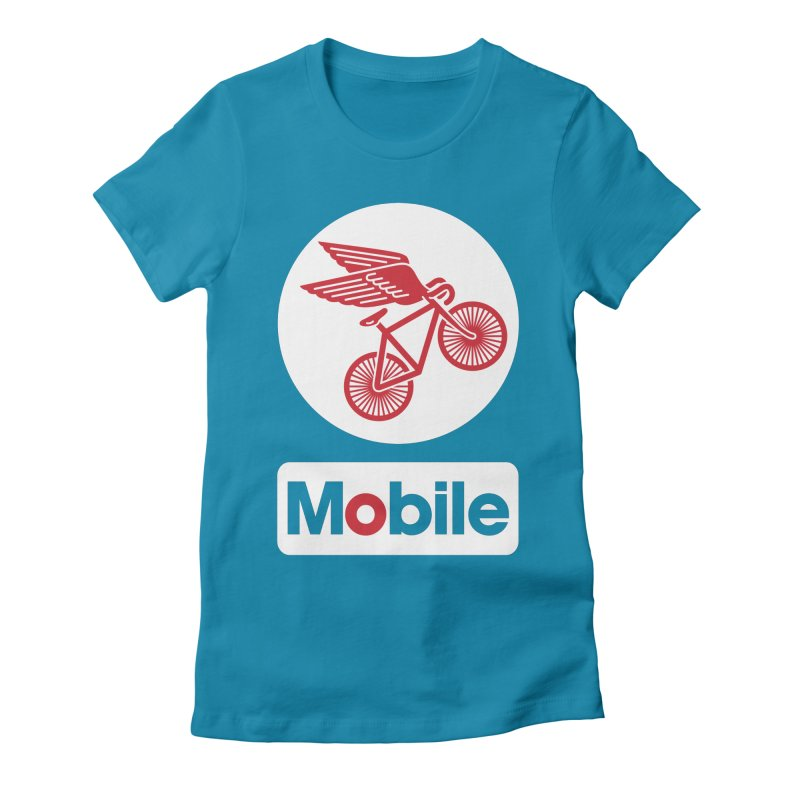 Mobile Women's Fitted T-Shirt by Postlopez