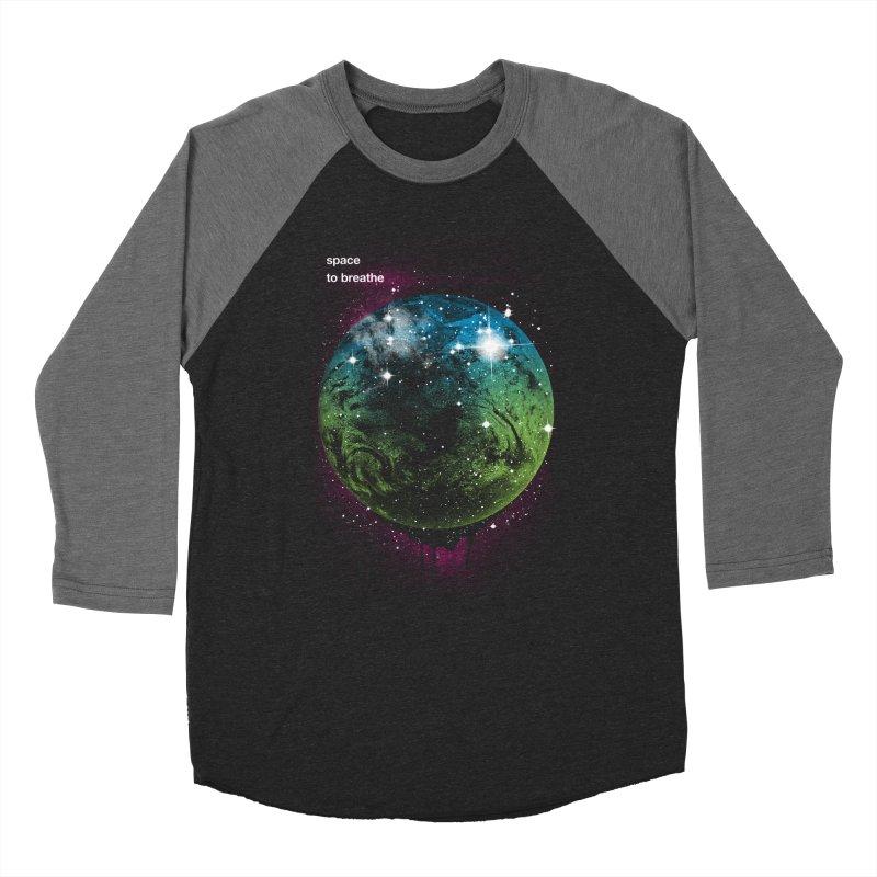 Space to Breathe Men's Baseball Triblend T-Shirt by Postlopez