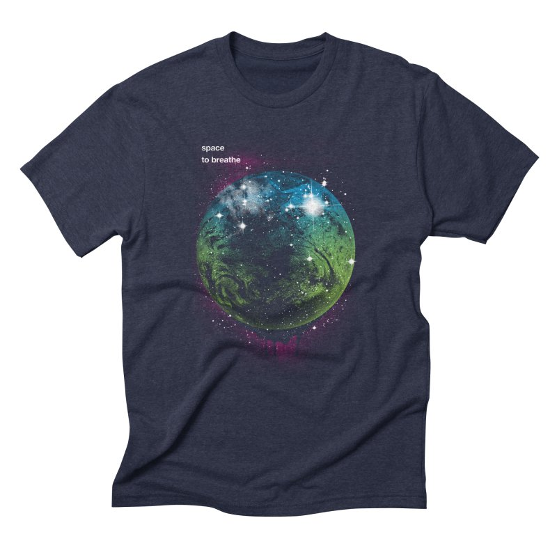 Space to Breathe Men's Triblend T-shirt by Postlopez