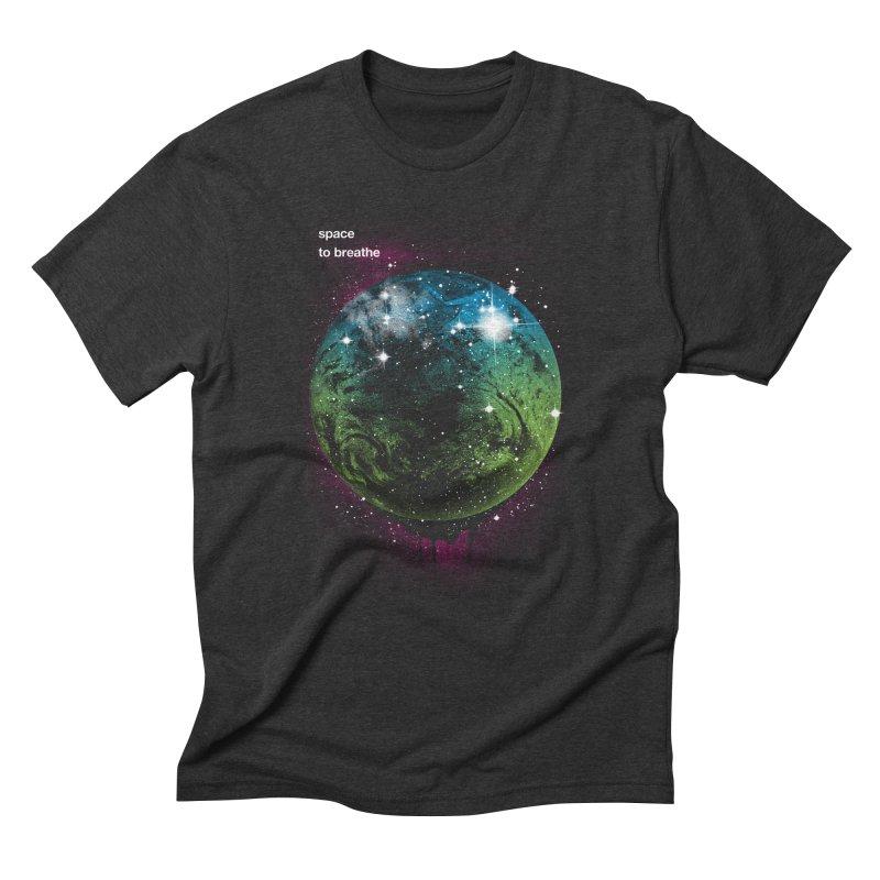 Space to Breathe Men's Triblend T-shirt by Postlopez