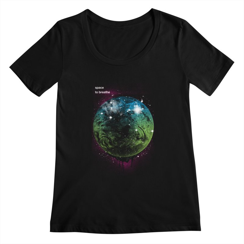 Space to Breathe Women's Scoopneck by Postlopez