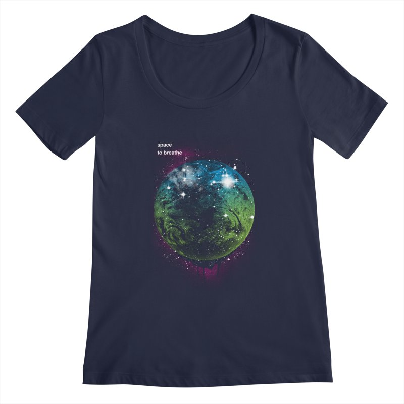 Space to Breathe Women's Scoopneck by Postlopez