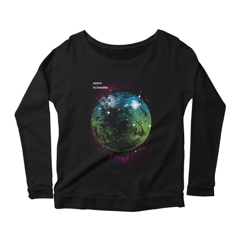 Space to Breathe Women's Longsleeve Scoopneck  by Postlopez