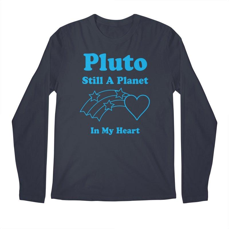 Pluto: Still A Planet in my Heart Men's Longsleeve T-Shirt by Postlopez