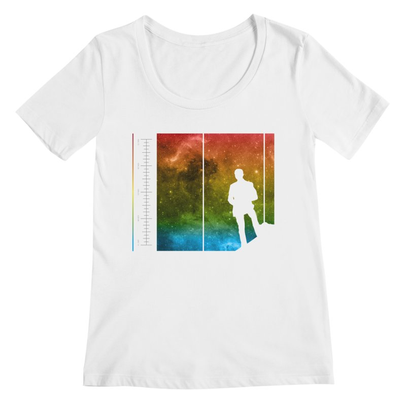 Stand In The Stars Women's Scoopneck by Postlopez