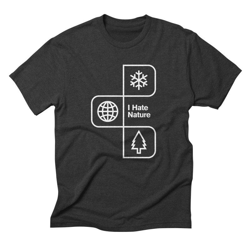 I Hate Nature Men's Triblend T-shirt by Postlopez