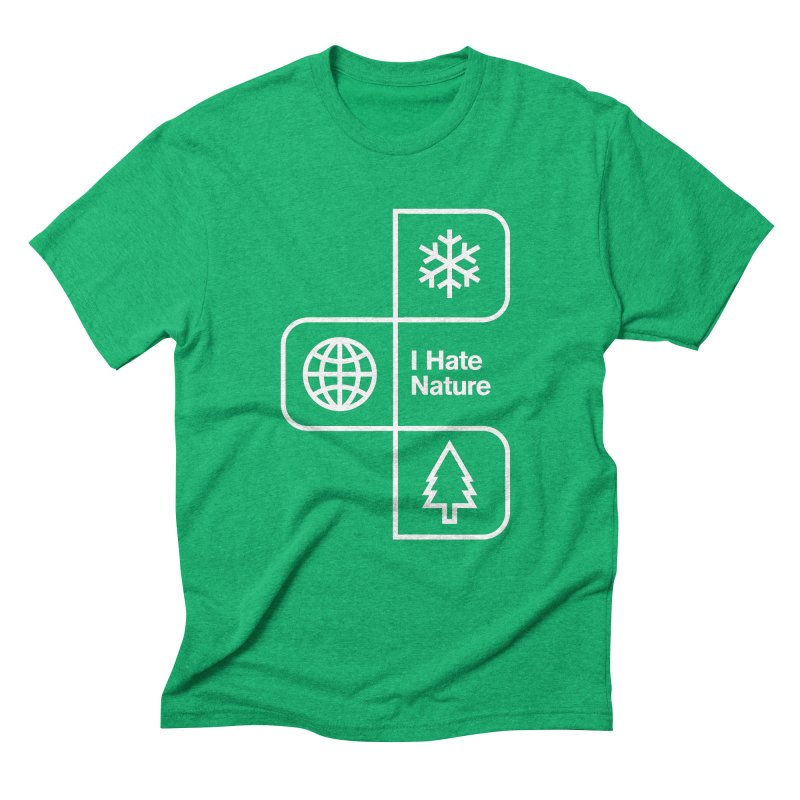 I Hate Nature Men's Triblend T-shirt by Postlopez