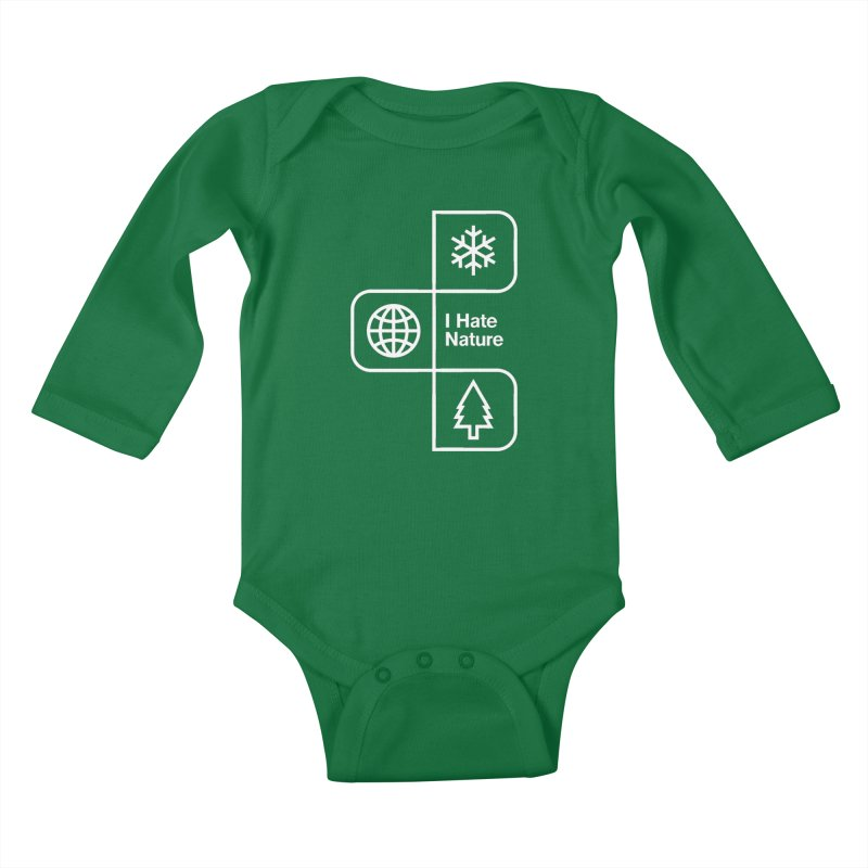 I Hate Nature Kids Baby Longsleeve Bodysuit by Postlopez