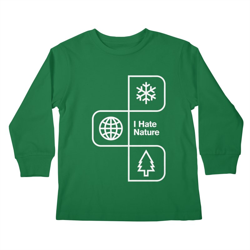 I Hate Nature Kids Longsleeve T-Shirt by Postlopez