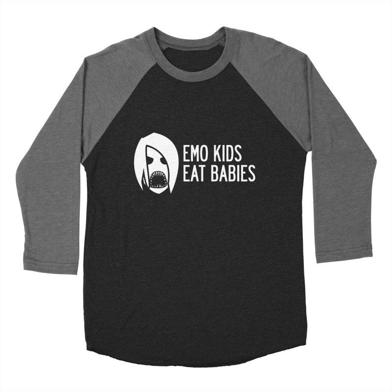 Emo Kids Eat Babies Men's Baseball Triblend T-Shirt by Postlopez