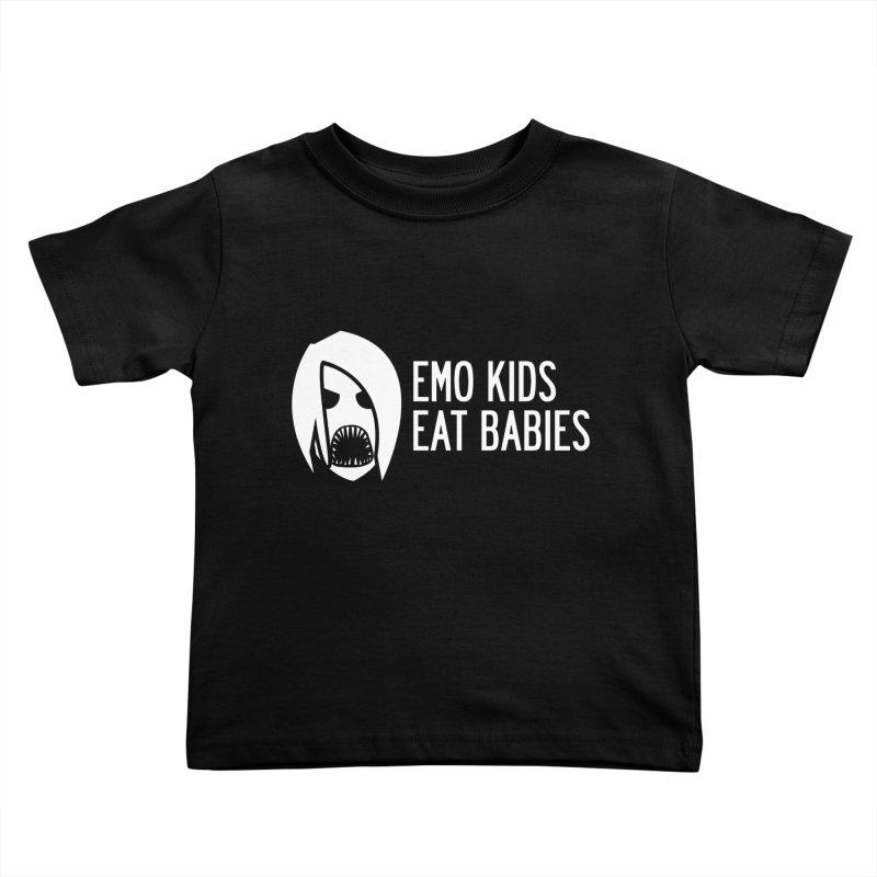 Emo Kids Eat Babies Kids Toddler T-Shirt by Postlopez