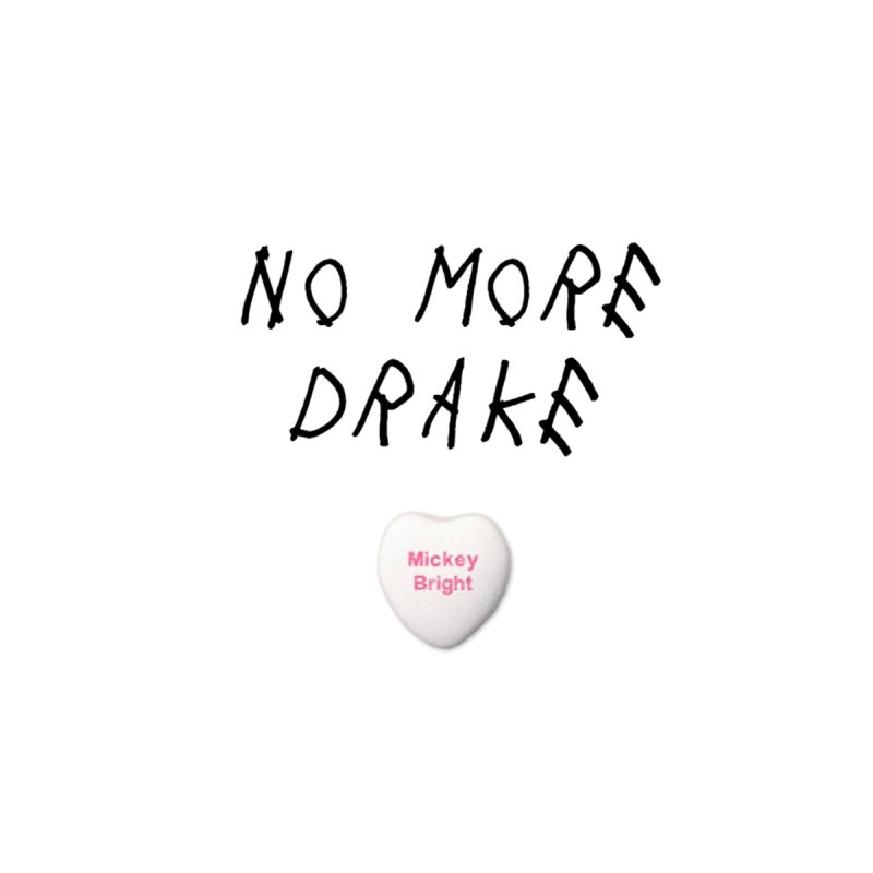 No More Drake_white Men's T-Shirt by Post Zen