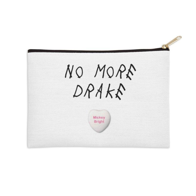 No More Drake_white Accessories Zip Pouch by Post Zen