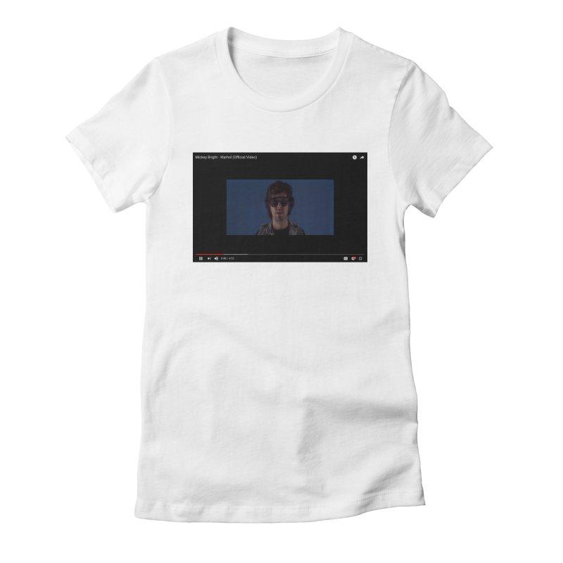 Warhol (BLUE) Women's Fitted T-Shirt by Post Zen