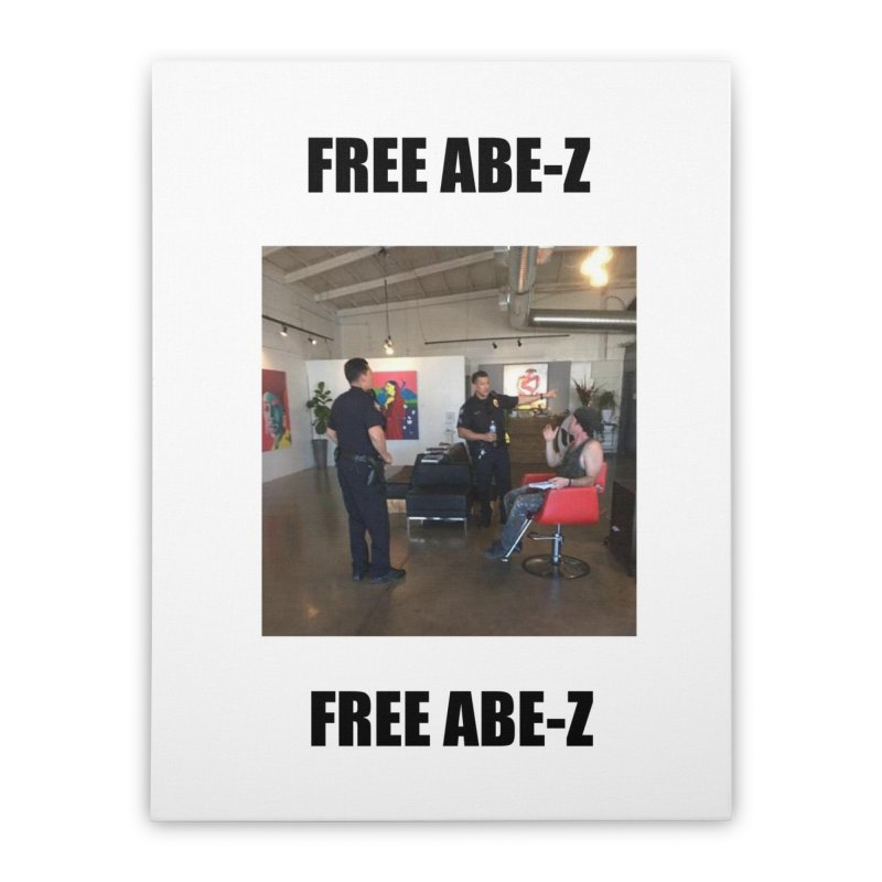 FREE ABE-Z Home Stretched Canvas by Post Zen