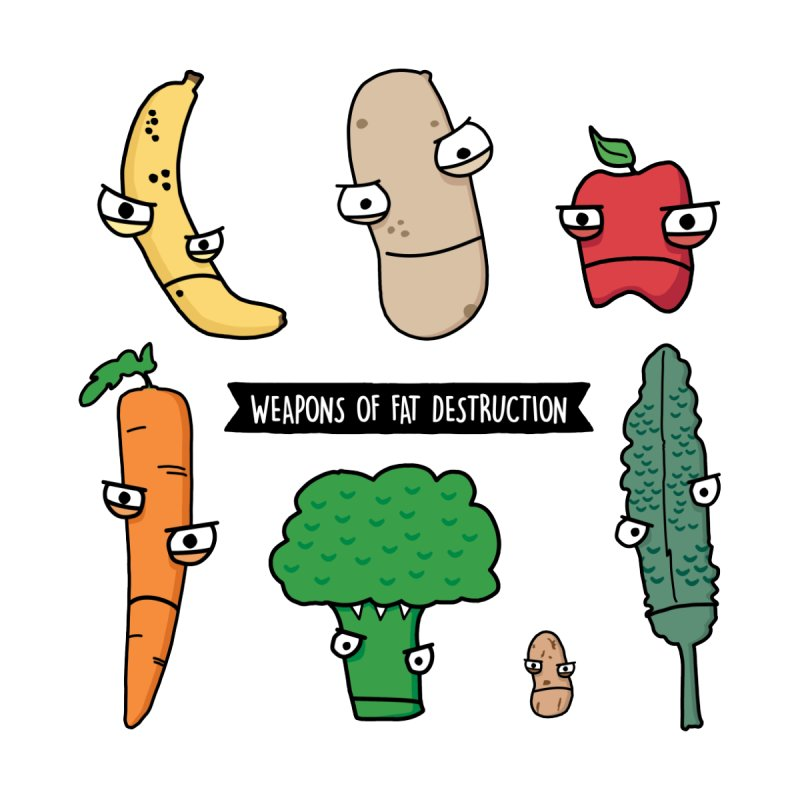 Weapons of Fat Destruction  [Zip-Up Hoody] by Potato Wisdom's Artist Shop