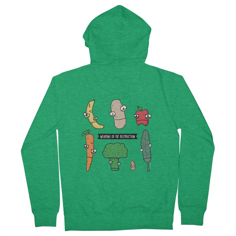 Weapons of Fat Destruction  [Zip-Up Hoody] Men's Zip-Up Hoody by Potato Wisdom's Artist Shop