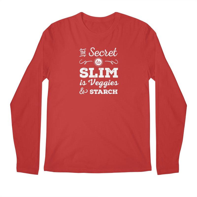 The Secret to Slim Men's Regular Longsleeve T-Shirt by Potato Wisdom's Artist Shop