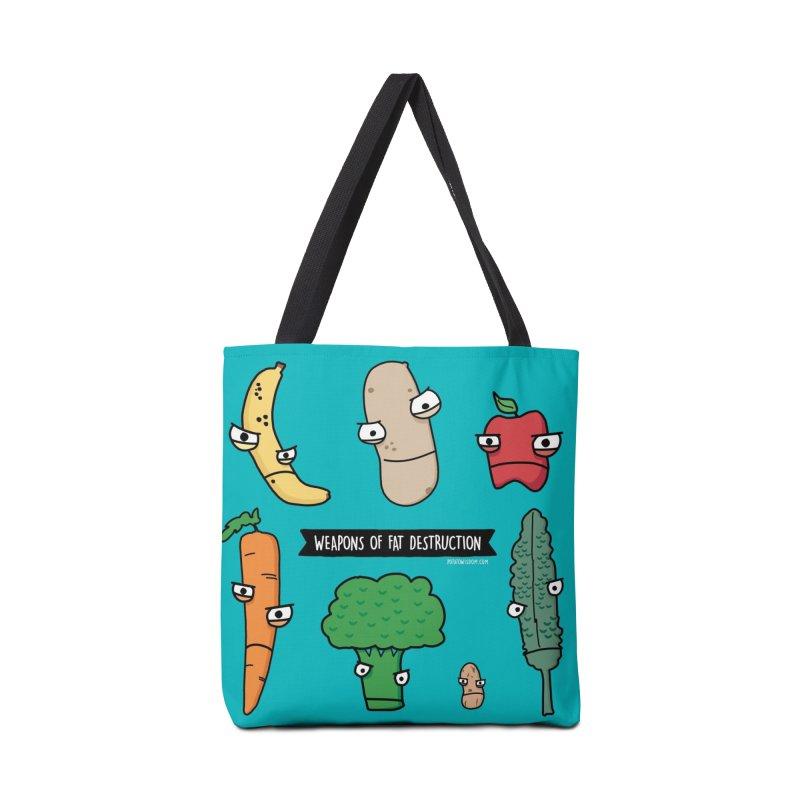 Weapons of Fat Destruction Tote Accessories Bag by Potato Wisdom's Artist Shop