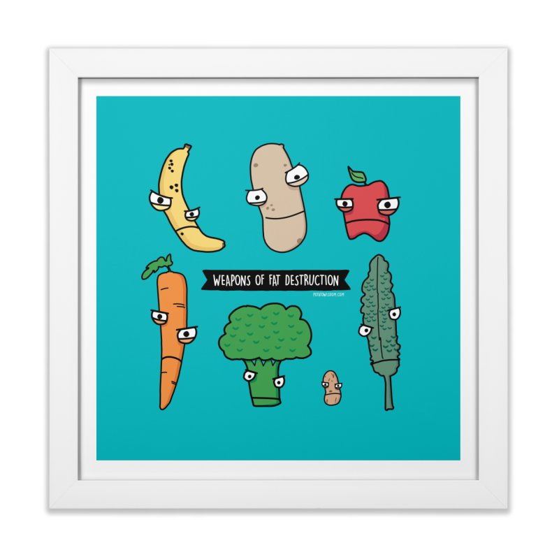 Weapons of Fat Destruction Tote Home Framed Fine Art Print by Potato Wisdom's Artist Shop