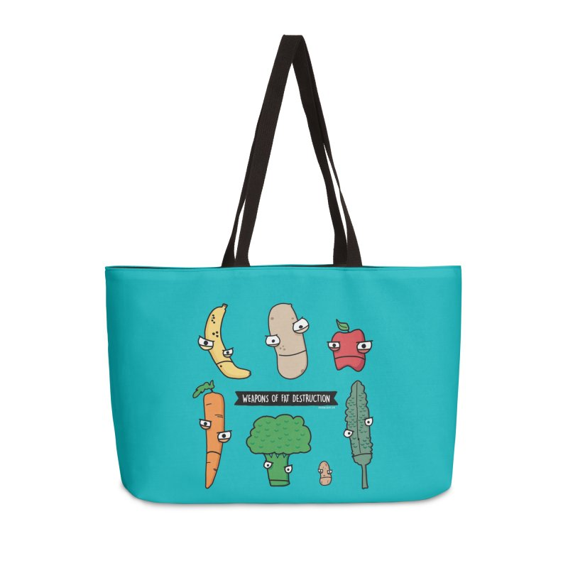 Weapons of Fat Destruction Tote Accessories Weekender Bag Bag by Potato Wisdom's Artist Shop