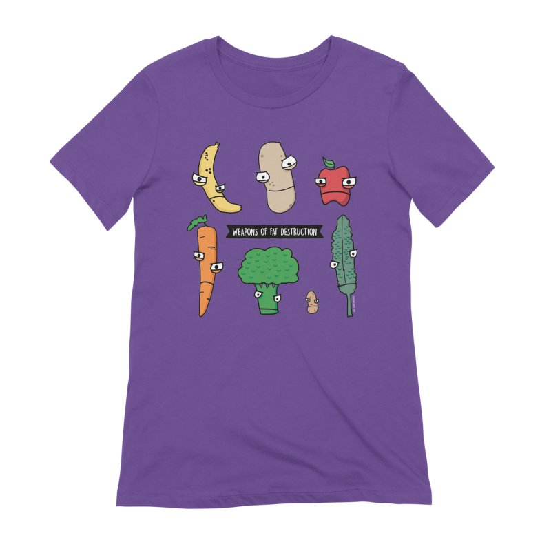 Weapons of Fat Destruction Shirts in Women's Extra Soft T-Shirt Purple by Potato Wisdom's Artist Shop