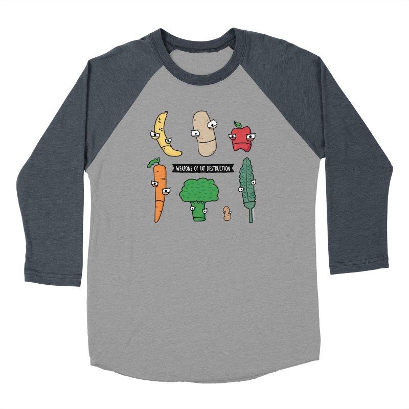 Weapons of Fat Destruction Shirts Women's Baseball Triblend Longsleeve T-Shirt by Potato Wisdom's Artist Shop