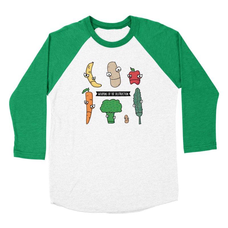 Weapons of Fat Destruction Shirts Men's Baseball Triblend Longsleeve T-Shirt by Potato Wisdom's Artist Shop