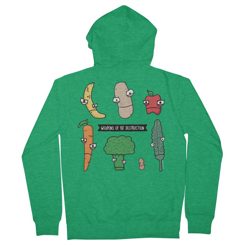 Weapons of Fat Destruction Shirts Women's French Terry Zip-Up Hoody by Potato Wisdom's Artist Shop