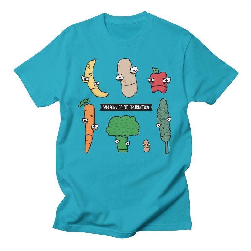 Weapons of Fat Destruction Shirts Men's Regular T-Shirt by Potato Wisdom's Artist Shop