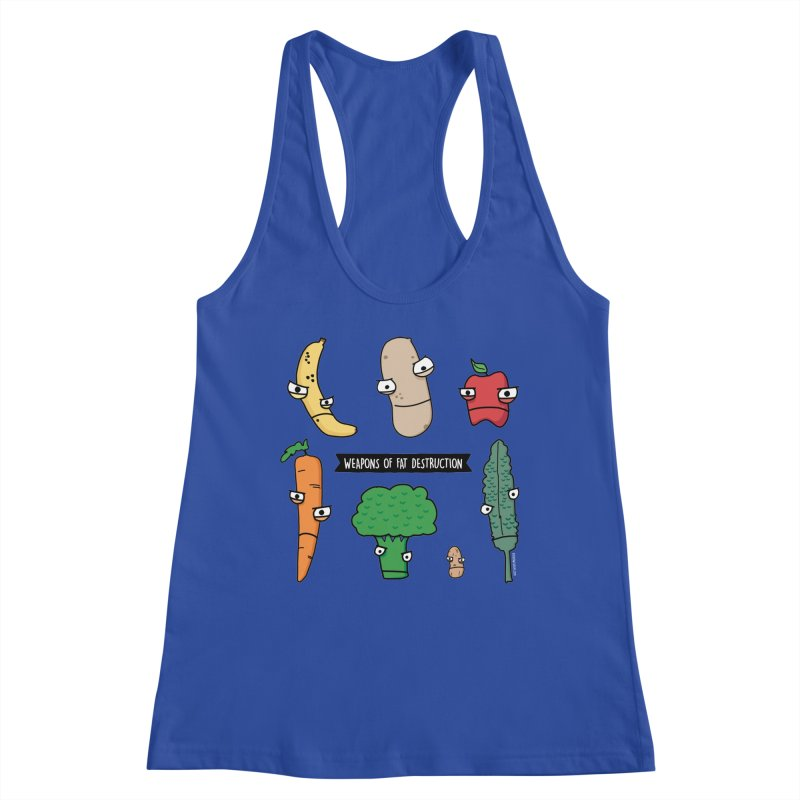 Weapons of Fat Destruction Shirts Women's Racerback Tank by Potato Wisdom's Artist Shop