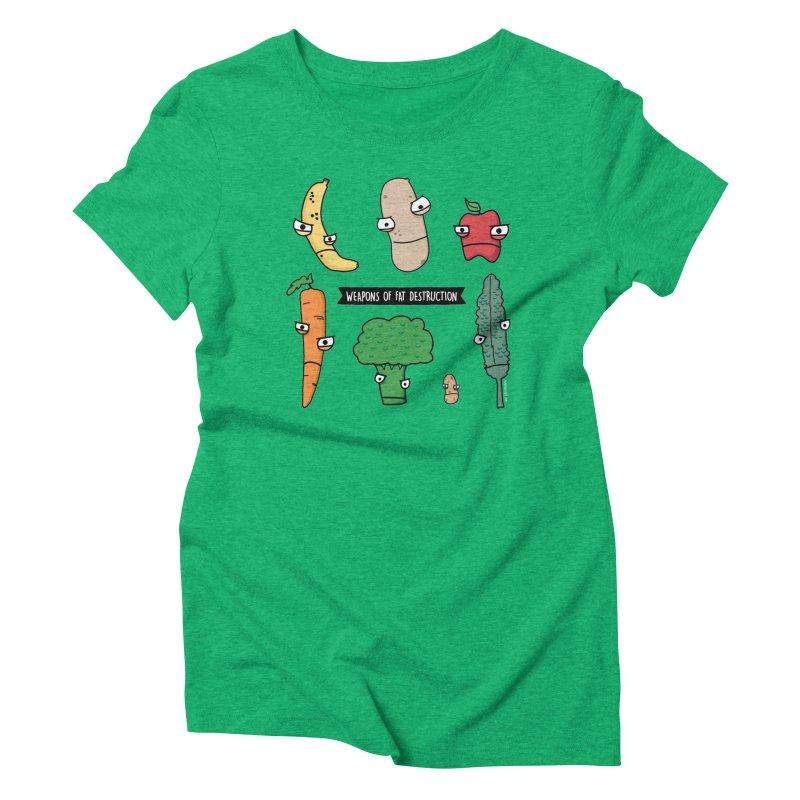 Weapons of Fat Destruction Shirts Women's T-Shirt by Potato Wisdom's Artist Shop