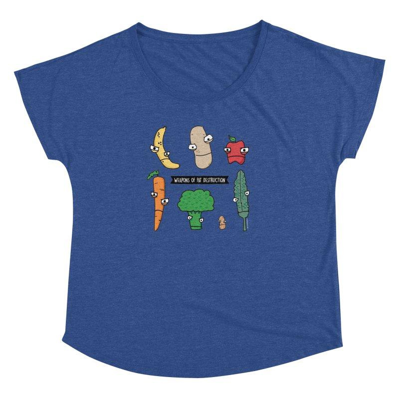 Weapons of Fat Destruction Shirts Women's Dolman Scoop Neck by Potato Wisdom's Artist Shop