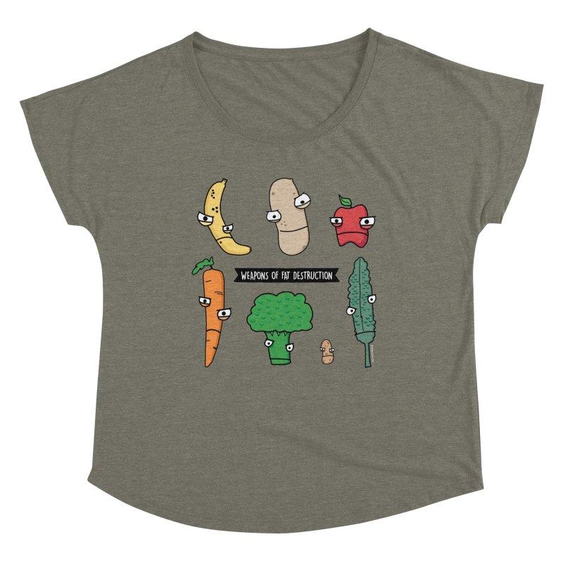 Weapons of Fat Destruction Shirts Women's Scoop Neck by Potato Wisdom's Artist Shop