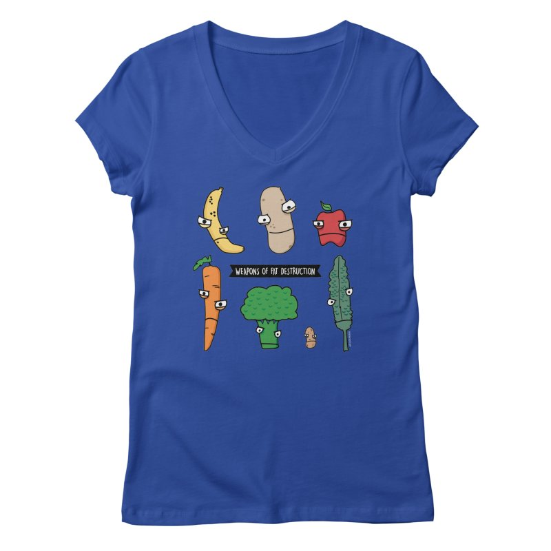 Weapons of Fat Destruction Shirts Women's V-Neck by Potato Wisdom's Artist Shop