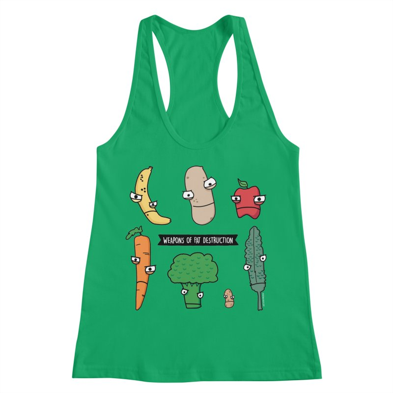 Weapons of Fat Destruction Shirts Women's Racerback Tank by Potato Wisdom's Artist Shop