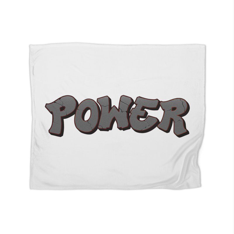 POWER cracks Home Fleece Blanket Blanket by Power Artist Shop