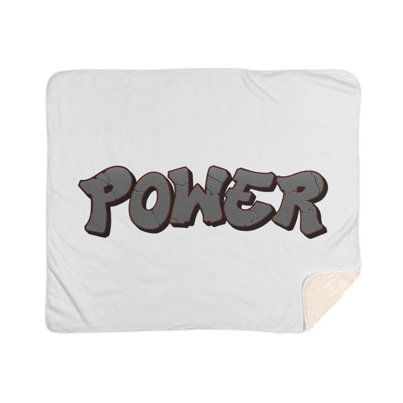 POWER cracks Home Sherpa Blanket Blanket by Power Artist Shop