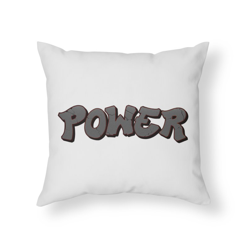 POWER cracks Home Throw Pillow by Power Artist Shop